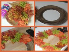 paper plate wreath how to