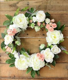 Hey, I found this really awesome Etsy listing at https://www.etsy.com/listing/229196178/spring-wreath-summer-wreath-peony-wreath