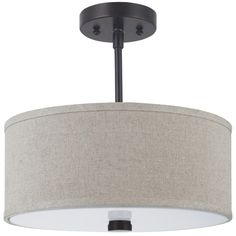 Illuminate your space with the clean, tailored look of this semi-flush light fixture. The warm coloring of the burnt sienna finish complements a number of color schemes and decors, while the stylish f