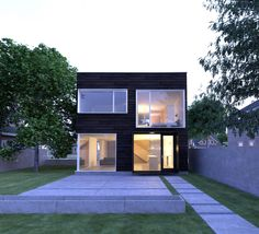 Built by John Dwyer Architect in Minneapolis, United States INFILL The objective was to create a home with the highest possible performance in environmental and economic measu...