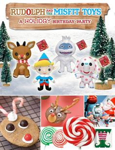 Wanted to share a some holiday party inspiration with you today... A friend of mine came up with the fun idea of doing a 'RUDOLPH & THE MISFIT TOYS' theme for her son's first birthday party since it's so close to Christmas. Pretty cute idea for a kids holiday party theme, right?! Here's a peek at the inspiration board that I've been putting together for her, in case you want to add some playful 'Misfit Toys' elements to your own holiday party one day... I've gotta admit this was a kind of a…