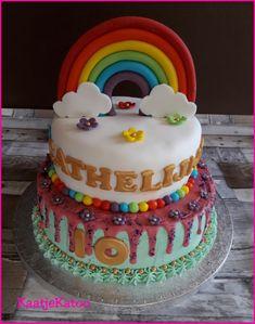 Fantasietaart Cathy Birthday Cake, Desserts, Food, Tailgate Desserts, Birthday Cakes, Deserts, Eten, Postres, Dessert