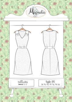 Magnolia ~ All Together.Pattern - Atelier Vicolo N° 6 Cartamodelli ~ Patrons de couture Dress Sewing Patterns, Sewing Patterns Free, Free Sewing, Free Pattern, Pattern Dress, Clothing Patterns, Patchwork Patterns, Sewing Diy, Sewing Hacks
