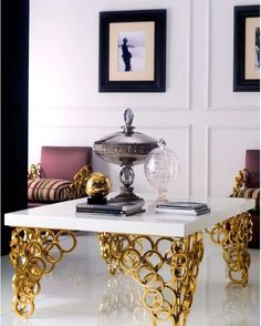 Luxury Designer Gold Rings Coffee Table, sharing luxury designer home decor inspirations and ideas for beautiful living rooms, dinning rooms, bedrooms & bathrooms inc furniture, chandeliers, table lamps, mirrors, art, vases, trays, pillows, accessories & gift courtesy of InStyle Decor Beverly Hills enjoy & happy pinning