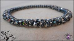 Sparkly Bangle Bracelet Silver and Black by JewelryOfLife on Etsy, $15.00