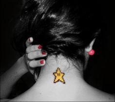 mario bros super star!! i love it! so i tattoo it in my neck... is my twinkle twinkle super star! :)