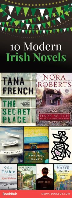 Great modern Irish novels worth reading this year, including books by Nora Roberts and Tana French. Great for gearing up for St. Patrick's Day, or simply to enjoy the rolling green countryside!