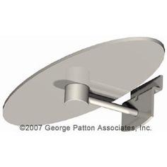 Oval Slatwall Display Shelf - Silver - ON SALE NOW!