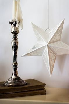 White Star Spiderweb Paper Lanterns | 24 Beautiful And Stylish Ways To Decorate For Halloween