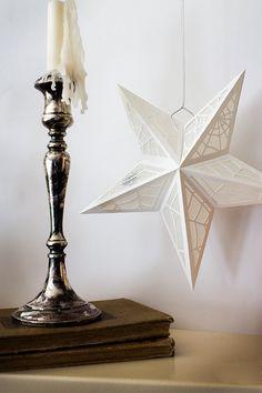 White Star Spiderweb Paper Lanterns