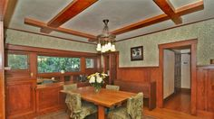 Home of the Day: Craftsman charmer in Pasadena's historic Bungalow Heaven Mission Style, Home, Bungalow, Craftsman Bungalows, Zillow, Craftsman, Craftsman House, Bungalow Dining Room, Stickley Furniture