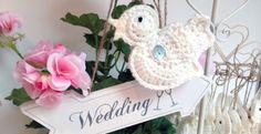 handmade crochet wedding birds