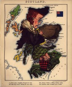 """A humorous outline of Scotland by """"Aleph"""" (William Harvey), London, 1868"""