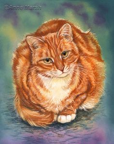 GINGER CAT SUSIE LIMITED EDITION PRINT OF PAINTING ANNE MARSH ART | eBay