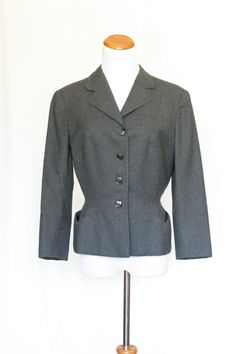NEW!!! This will go fast! 40's Vintage Style Ladies Jacket Grey Jacket by pinebrookvintage, $39.00