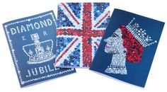 Buttontastic! Diamond Jubilee notebooks  set of 3 different by sugarushuk, $12.00