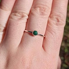 Malachite Ring in Sterling Silver, Simple Hammered Band, Dainty Stackable Minimalist Boho Ring, Genuine Green Malachite Stone, Made to Order Business Products, Dainty Ring, Boho Rings, Hogwarts, Etsy Store, Sterling Silver Rings, Gemstone Rings, Essentials, Minimalist