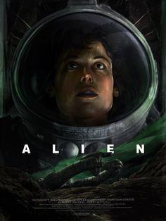 Horror Movie Posters, Movie Poster Art, Horror Movies, Alien 1979, Xenomorph, Alien Ridley Scott, Harry Dean Stanton, Alien Ripley, Alien Covenant
