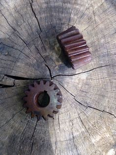 1950s Gears / Steampunk/ Farm supplies / sprockets / Metal Supplies / Cogs / Gears / Old barn / Primitive by JUNQFUSION on Etsy