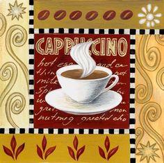 Coffee Cup Drawing, Coffee Cup Art, Coffee Wall Art, Coffee Poster, Café Chocolate, Coffee Theme, Kitchen Prints, Christmas Templates, Tea Art