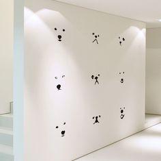 Lovely Dog Faces Medium Size DIY Modern Wall Art by WallSpurArt, $36.99