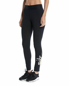 quality design dc4e2 2d75c Nike Designer Rally Logo Drawstring Jogger Sweatpants Nike High, Nike  Sportswear, Black Leggings,