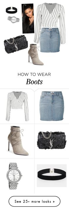 """""""Saint Laurent the boots Aye!"""" by biinoo on Polyvore featuring Yves Saint Laurent, Fat Face, ASOS and stripedshirt"""