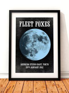 Fleet Foxes poster art Fleet Foxes poster print by TheIndoorType, £10.99