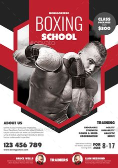 Boxing School by monggokerso | GraphicRiver