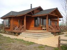 This amazing photo is surely an inspirational and fabulous idea Wood House Design, House Outside Design, Cabin Design, Cottage Design, Cabin Homes, Log Homes, 2 Bedroom House Plans, Bamboo House, Wooden House