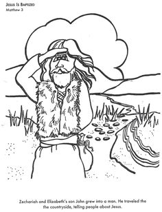 Zacharias and elizabeth coloring pages bible helps for John the baptist coloring pages printable