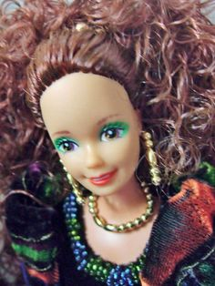 1991 Timeless Treasures boxed Mattel Barbie Long curly auburn hair,velor dress@eBay