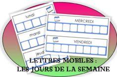 Lettres mobiles : Les jours de la semaine