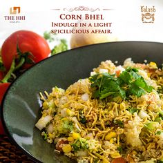 Missing out on a light hearted spice affair? Try out our very own Corn Bhel that combines taste with health. #Kalash #CornBhel #Health #Tasty #Restaurant #Delicious #HHIHotels #Kolkata