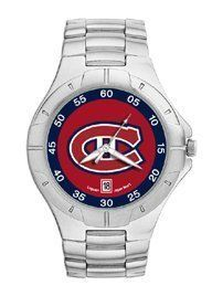 Montreal Canadiens Mens Pro Ii Stainless Steel Bracelet Watch by Logo Art. $84.95. Powered by a precision Miyota three hand quartz movement with date function.. Water resistant.. Two-year limited warranty.. Packaged in an attractive black tin with flocked insert.. Show your Montreal Canadiens loyalty by wearing the sporty Pro II watch by LogoArt®. The Pro II features the Montreal Canadiens logo prominently centered on the colorful dial with coordinating dial ring.