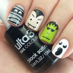 So cuteand perfect for halloween :) Are you looking for easy Halloween nail art designs for October for Halloween party? See our collection full of easy Halloween nail art designs ideas and get inspired! Nail Art Designs, Holiday Nail Designs, Halloween Nail Designs, Holiday Nail Art, Halloween Ideas, Nails Design, Halloween Decorations, Love Nails, Pretty Nails