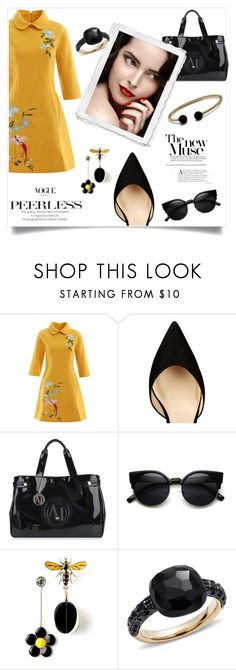 """Untitled #2344"" by swc0509 ❤ liked on Polyvore featuring Paul Andrew, Armani Jeans, Pomellato and David Yurman"