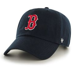 fa190cd63d29d MLB Boston Red Sox  47 Brand Navy Basic Logo Clean Up Home Adjustable Hat
