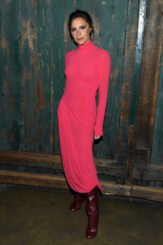 Victoria Beckham wearing Victoria Beckham at Vogue's Forces of Fashion Conference in NYC