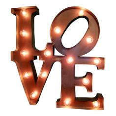 Love Marquee Letter Light Sign from The Rusty Marquee