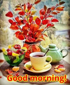 Yes time again! Morning Mood, Good Morning Coffee, Autumn Morning, Good Morning Good Night, Good Morning Images, Coffee Break, Coffee Time, Tea Gif, Good Day Wishes