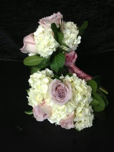 Bouquets  hydrangeas & lavender roses