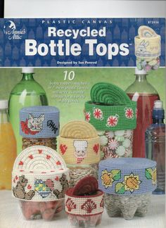 Recycled Bottle Tops In Plastic Canvas by cutiepiepatterns