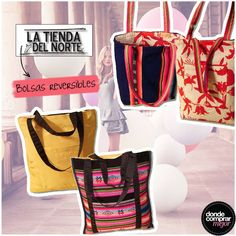 ¡Bolsos reversibles para llevar de todo! ¿Cuál te gusta más? By La Tienda del Norte. www.dondecomprarmejor.com