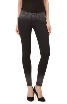 7 for all mankind THE SKINNY SLIM ILLUSION LUXE RINSED BLACK FADE