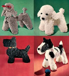 Crochet Dog Patterns from the 50's  a Scottie, Wirehair Terrier, Poodle instant digital download by wanderlustlounge on Etsy https://www.etsy.com/ca/listing/100147073/crochet-dog-patterns-from-the-50s-a