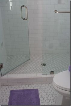 Good floor and transition to shower, glass door?