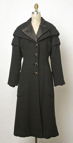Coat, Elsa Schiaparelli  (Italian, 1890–1973): late 1940's - early 1950's, French, wool.