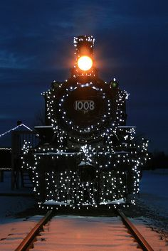 Alight At Night. steam loco No. 1008. Morrisburg, Ontario