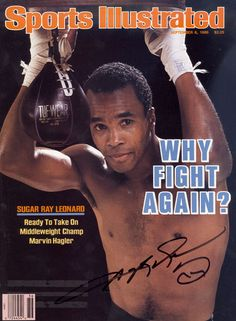 1986 Sports Illustrated Sugar Ray Leonard